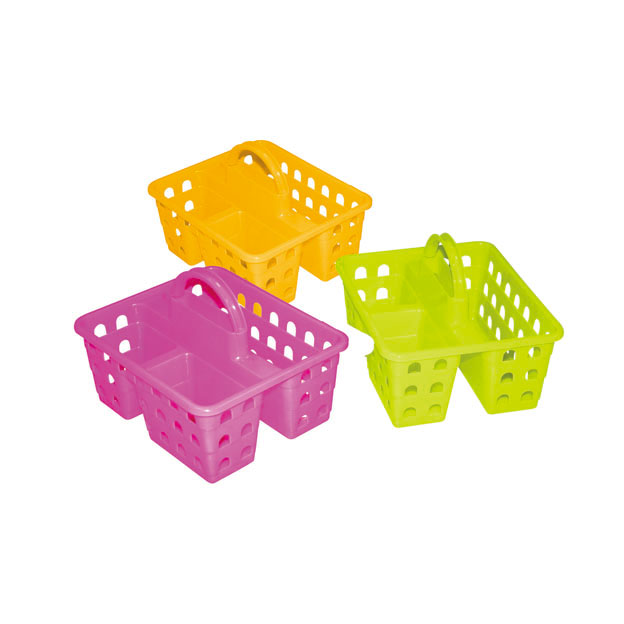 many shapes flexible garden plastic basket with handle