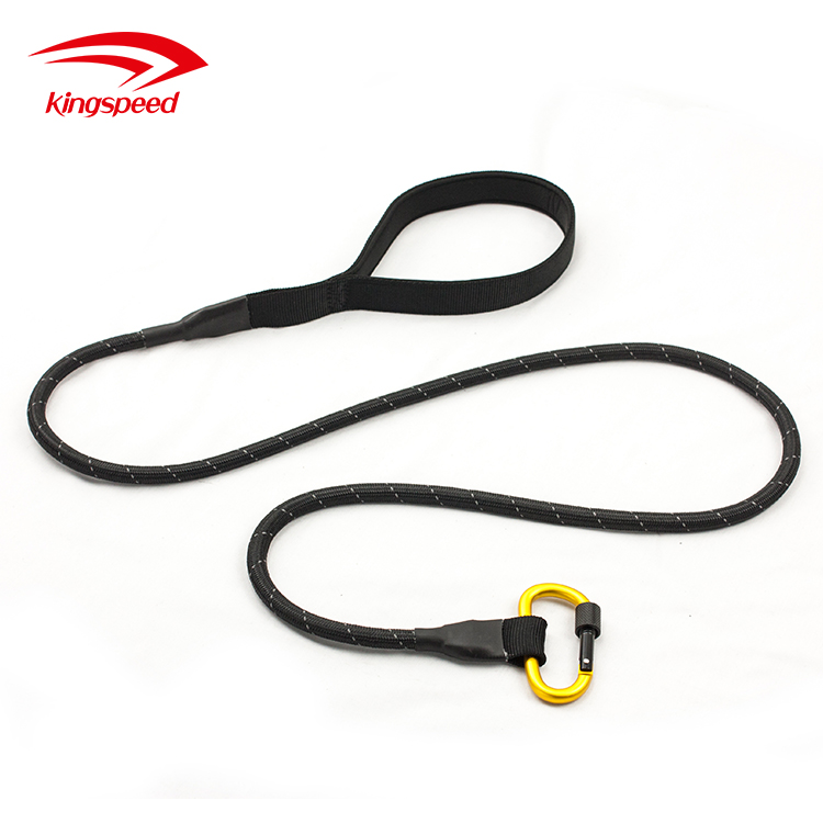 6 Feet Reflective Dog Lead Secure Locking Carabiner Climbing Rope dog Leash for small,medium and large dogs