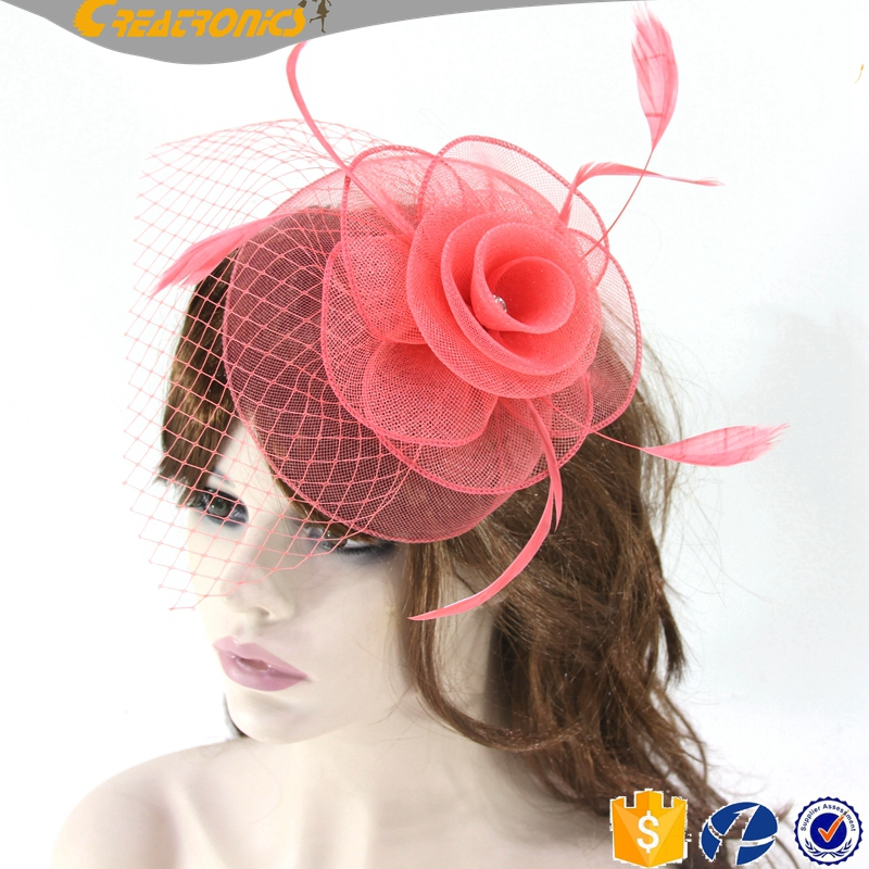 Coming Fashion Feather Headwear Hat Lady Wedding Accessories Handmade Tea Party Hair Fascinators