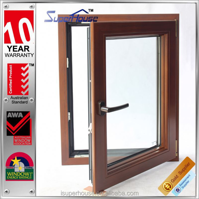 Superhouse tilt and turn wood frame windows with 10 years guarantee