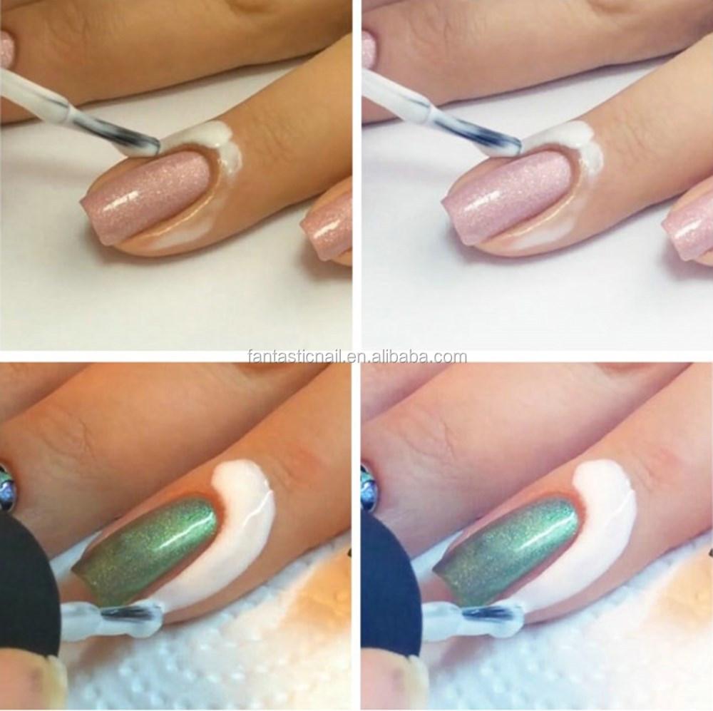 Жидкость пленка вокруг ногтя
