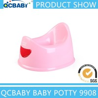 Detachable plastic baby potty with lid, plastic six color baby potty, plastic chamber pot
