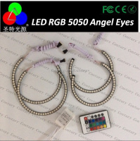 4* Multi Color SMD5050 RGB Angel Eye Halo Ring 131mm 146mm for e36 e39 e46 e38
