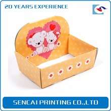 SenCai different pattern color Boat shaped toy box