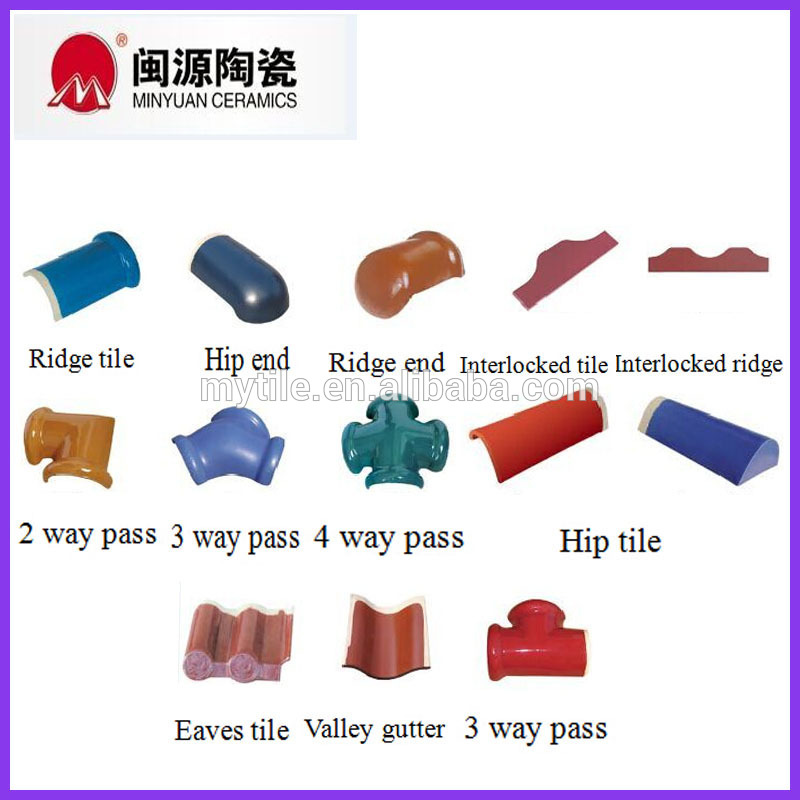 2016 China High quality ceramic roof tiles sheet roof tiles manufacturer