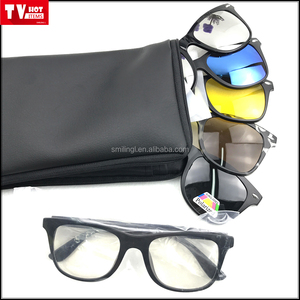 9d955a7bd7e 6 pcs set Magnetic Clear Lens Reading Glasses with multi Vision Sunglasses  Clips