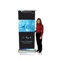 Retractable Electric Roll Up Rotating Banner Stand