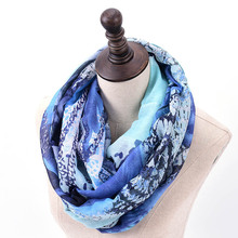 SF1729044 Romantic Butterfly Print Lightweight Infinity Scarf