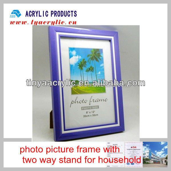 Beautiful photo picture frame with two way stand for household