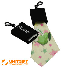 Custom shape Microfiber neoprene lens cleaning cloth with pocket bag