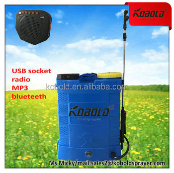 kobold 16L battery operated herbicide sprayer with bluetooth