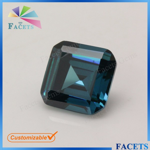 Facets Gems Square Shape Emerald Cut Lab Created Alexandrite Stone Prices