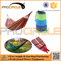 Colorful Parachute Canvas Fabric Travel Camping Hammock