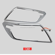 ABS chrome head lamp cover for 2015 NEW NAVARA NP300 accessories plastic