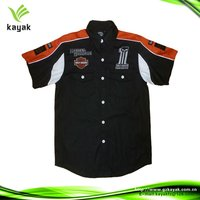 Top quality digital printed/embroidered motocross half shirt