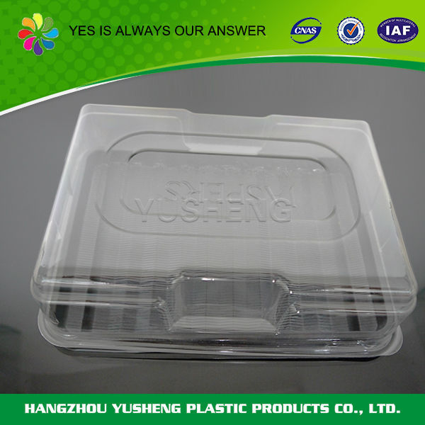 Non-slip disposable plastic PET keep cool food container