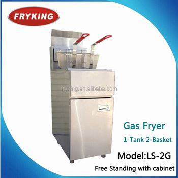 Free Standing Gas Deep Fryer With Cabinet