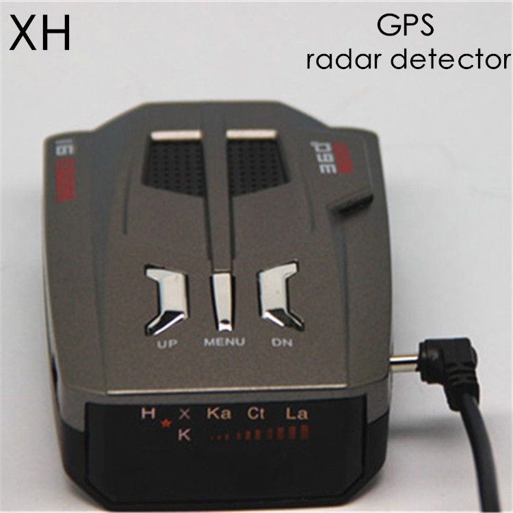 Best Quality V9 Car Radar Detector with 16 band gps navigation built-in Russian Voice Two mode combo