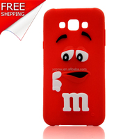 Silicone Phone Back Cover of M&M's chocolate candy rubber cartoon cell phone case covers for iphone 5/5S
