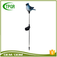 Alibaba Email Address Free Energy Blue Bird Polyresin Statue Solar Garden Stake Solar Lights