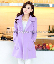 New design china factory direct long sleeve sleeve ladies high fashion korean fleece coat