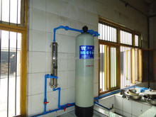 Small water softener for bathroom shower domestic use