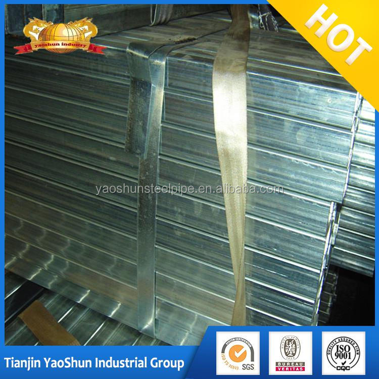 Hot GI square steel tubes materials for construction