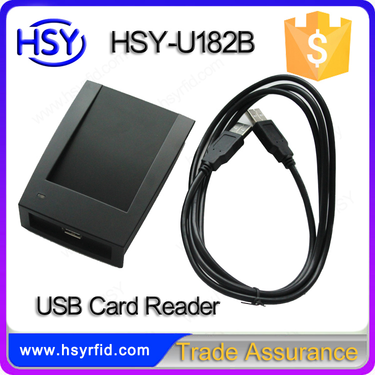 HSY-U182B cheap price high quality 13.56mhz hex card number output hf USB card reader with CE