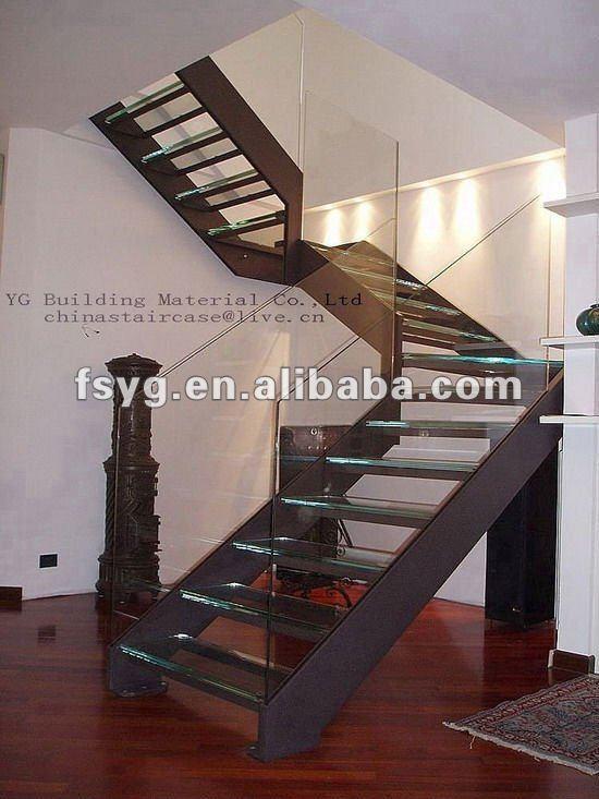 Escaleras de vidrio templado escaleras identificaci n del - Escaleras de cristal templado ...