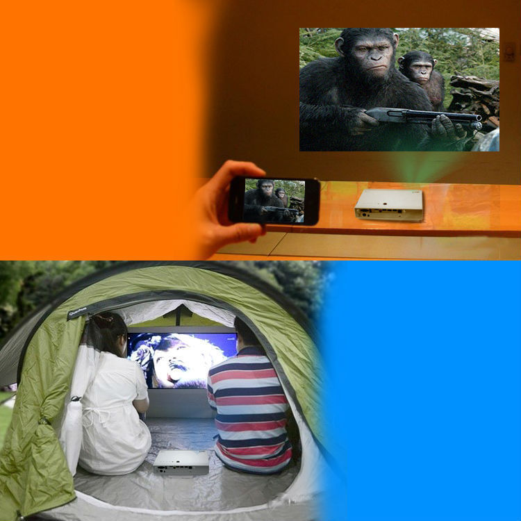 Portable LED DLP 3D cinema Video Data Show projector china mobile phone