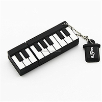 Alibaba wholesale USB3.0 8G 16G 32G 64G Key board shape USB flash drive PIANO usb3.0 pen drive