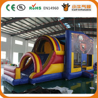 Hot promotion originality adult bouncy castle inflatable castle with jumping and slide with good offer