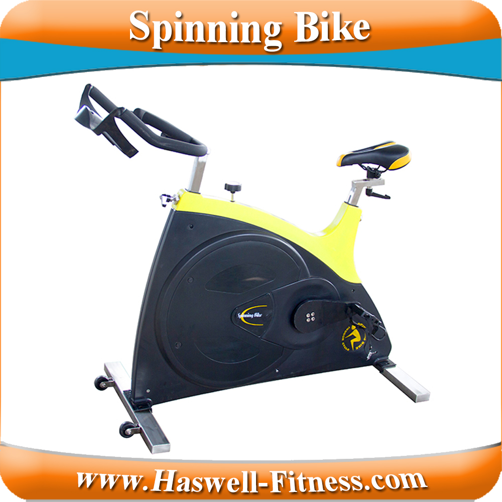 cheap gym body strength bike sculpture/strong drive belt drived spinning exercise bike