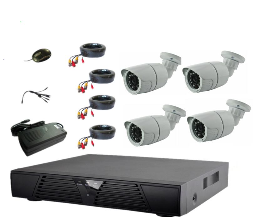 AHD Camera Type and IP66 Special Features h.264 4ch dvr combo cctv camera kit