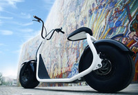 China Latest Model 2 Wheel citycoco electric motorcycle , electric CITYCOCO with bluetooth and led light