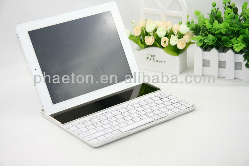 Efficient and energy saving /new suit solar cell charger /wireless bluetooth aluminum keyboard for ipad ipad2