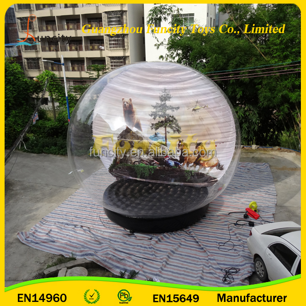 Good quality Inflatable Snow Balloon/Human size Snow Air ball for life show and parties/Inflatable Air Snow Globe supplier