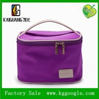 100%manufacture new colorful promotional pretty polka dats round ladies makeup storage bag recycable