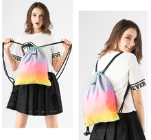 original design gradient color drawstring backpacks