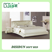 Cushion Headboard MDF Modern Hydraulic Lift Up Storage Bed