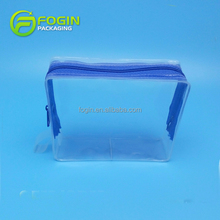 Customized plastic zipper bags transparent soft EVA makeup toiletry packaging pouch