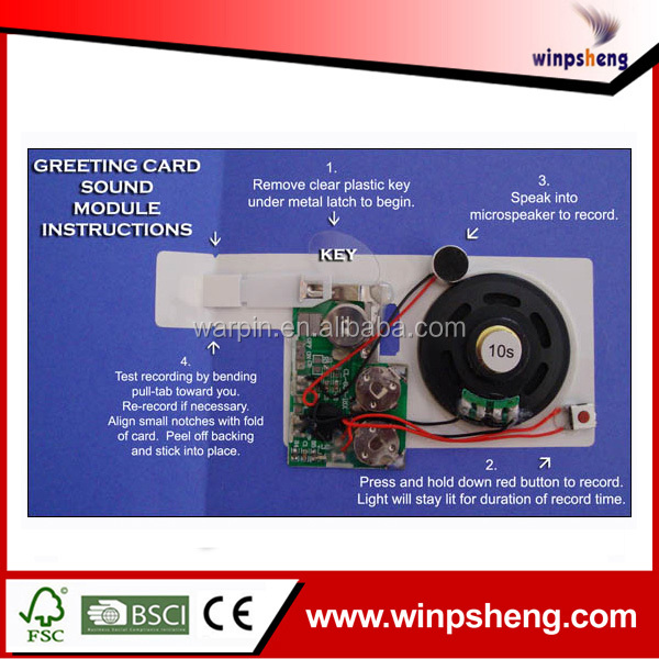 Programmable Music Module, Sound Chip, Musical Chip For Greeting Card