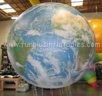TOp quality inflatable helium globe balloon for parade P3024
