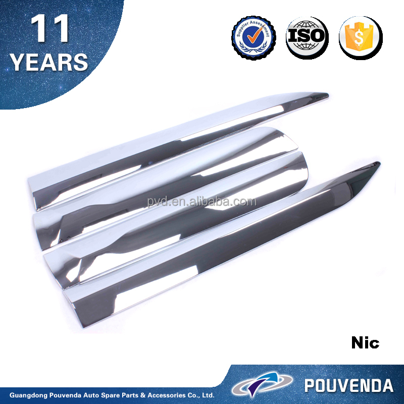 Chrome Side Door Trim For Toyota Hilux Revo 2015 car Body decoration trim Auto accessories from pouvend