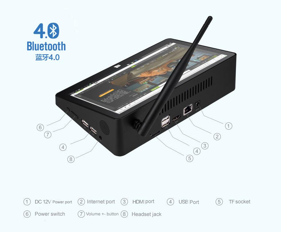 PIPO X10 Mini PC Windows <strong>10</strong> Intel Atom Z8300 Quad Core DDR3L 4GB RAM EMMC 64GB <strong>10</strong>.9 Inch Tablet PC HD WiFi Bluetooth HD TV Box