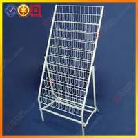 Wire metal floors magazine display