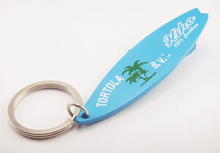 cool surf competition souvenir colorful custom surfboard keyring supplier