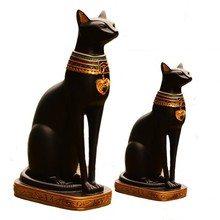 Customize High Quality Decorative Resin Egyptian Crafts Cats Figurines