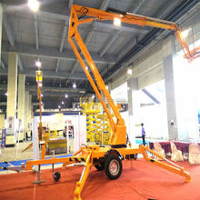 Promotion truck mounted man use hydraulic articulated / telescopic arm mobile boom lift