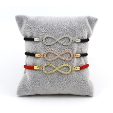 Fashion Jewelry CZ Paved Infinity Love Milan Rope Bracelet Adjustable Bracelet for Women